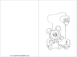 7 best images of 1st birthday coloring card printable disney
