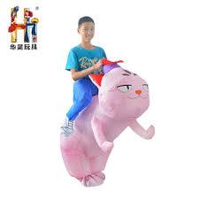 Inflatable Costume Halloween Halloween Inflatable Ride Blow Pink Dog Costume Halloween