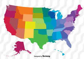 vector us map states free colorful vector map of the united states free vector