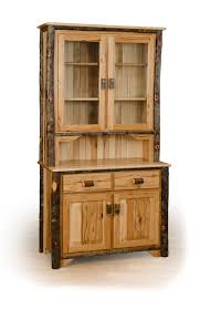 Solid Wood Kitchen Cabinets Made In Usa by Rustic Hickory 2 Door Buffet And Hutch China Cabinet Available