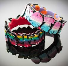 How To Graffiti With Spray Paint - polymer clay graffiti bracelets anke humpert polymer clay