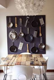 pegboard for pot rack giving extra storage and decor for your