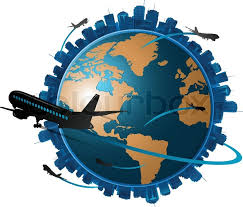 traveling around the world images Airplane travelling around the globe travel concept stock jpg