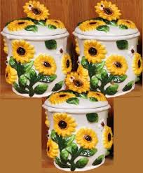 sunflower kitchen canisters kitchen canisters canister sets ceramic glass country
