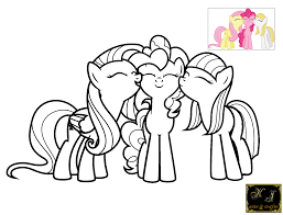 fabulous my little pony pinkie pie coloring pages with color pages