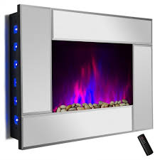 23 u2033 tempered glass electric fireplace heat freestanding insert