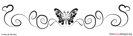 collection of 25 butterfly design on back waist
