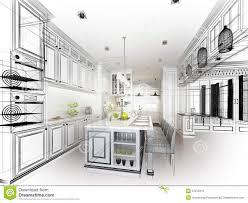 kitchen design sketch interior design