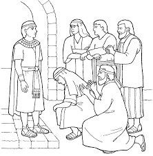 joseph forgives his brothers coloring page joseph sold his