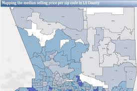 San Jose Zip Codes Map by Los Angeles Home Prices At Five Year High