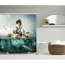 mermaid themed bathroom mermaid bathroom decor amazon com