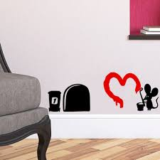 online get cheap removable wall murals aliexpress com alibaba group hot 3d funny cartoon mouse hole wall stickers for kids rooms home decals decorative removable wall murals 3d stickers 388
