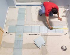 Laying Ceramic Floor Tile Install A Ceramic Tile Floor In The Bathroom Ceramic Tile Floors