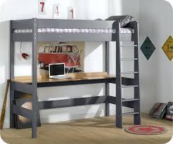 lit surélevé avec bureau lit hauteur avec bureau lit mezzanine avec bureau integre pas cher