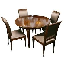 1940s Dining Room Furniture Dining Table With Four Chairs By Dominique French 1940s From A