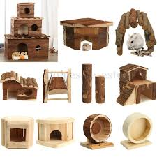 wooden house villa cage exercise toys for hamster hedgehog mouse