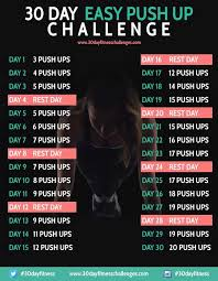 How To Do Challenge 30 Day Easy Push Up Challenge Fitness Challenges Workout And 30th