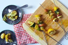 these grilled vegetable skewers are the thanksgiving side