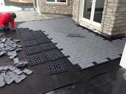 laying pavers over concrete patio outdoor living 2015