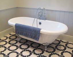 black and white vinyl bathroom flooring by neisha crosland for