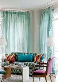 canape turquoise decoration rideau turquoise voilages aqua canapé tissu vert blanc