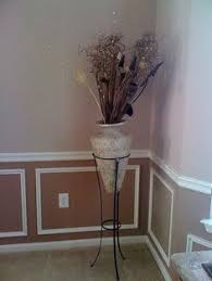 Paint Ideas For Dining Room With Chair Rail by A White Two Tone Chair Rail Moulding On A Wall Ideas For The