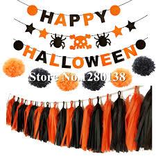 aliexpress com buy hpydiy theme halloween party decoration set