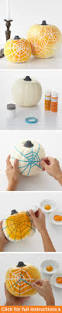 Martha Stewart Halloween Decoration How To Make The Ombre Spiderweb Pumpkins From Martha Stewart