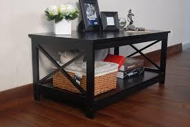 amazon com espresso finish x design wooden cocktail coffee table