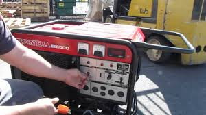 honda es6500 portable gas generator es 6500 watt 12 hp 120 240v