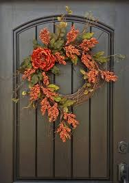 furniture accessories dazzling floral fall wreath decorating