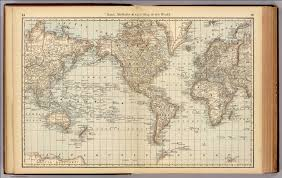 Map Of Thr World by Of The World Rand Mcnally And Company 1879