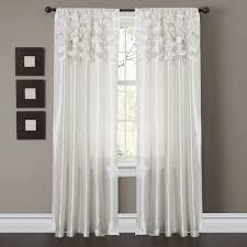 Beige And White Curtains Circle Window Curtain Set Lush Decor Www Lushdecor