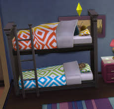 functional bunk bed by ugly breath teh sims