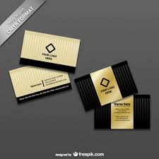 ready to print business card template vector free download