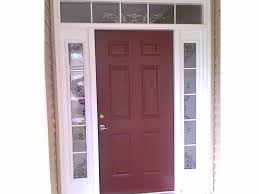 Front Doors With Glass Side Panels White Stained Glass Front Door With Sidelights Decofurnish