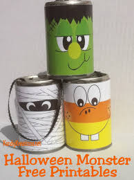 Halloween Monster Ideas Easy Halloween Decorations Free Printables For Tin Can Crafts
