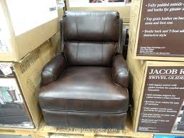 80 stupendous synergy jacob leather swivel glider recliner costco