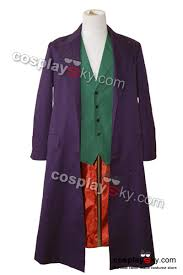 halloween jacket batman dark knight joker purple long trench coat halloween costume
