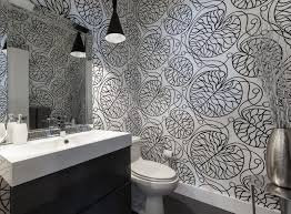 bathroom wallpaper designs 71 cool black and white bathroom design ideas digsdigs