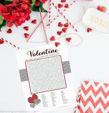 valentine word search printable blooming homestead