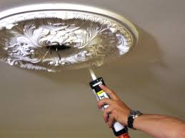 weekend projects installing a ceiling medallion hgtv