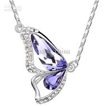 ladies necklace images Wholesale high quality ladies girl austria crystal butterfly jpg