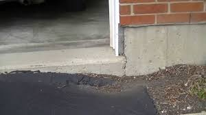 concrete driveway sinking repair driveway sinking 1 youtube
