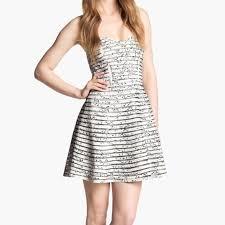 60 off parker dresses u0026 skirts parker strapless black and white