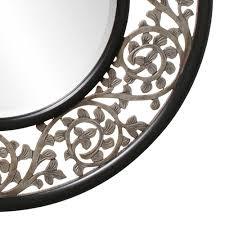 Designer Mirrors by Round Ornate Designer Mirror Hre 095 Accent Mirrors