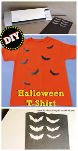 Halloween Shirt by Easy Diy Halloween T Shirt Using A Silhouette Cameo Who Said