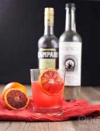 campari mezcal blood orange cocktail with campari one martini