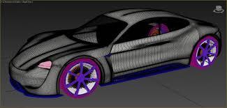 porsche mission e red porsche mission e concept car 3d model in concept 3dexport