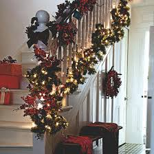 Decorating Banisters For Christmas Christmas Hallway Ideas Ideal Home